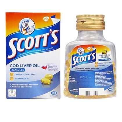Scotts Cod Liver Oil 100 capsules- 2 bottles