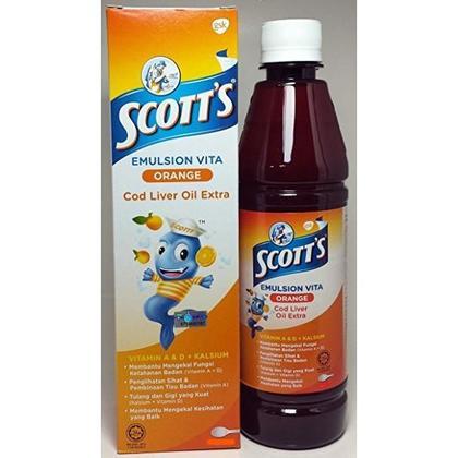 Scott's Emulsion Cod Liver Oil 200ml (Orange)
